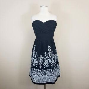 WHBM Strapless Cotton Dress